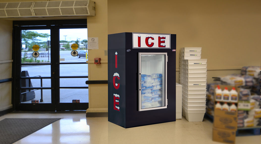 Leer Indoor Ice Merchandiser